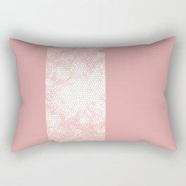 Rose gold and pink design Rectangular Pillow