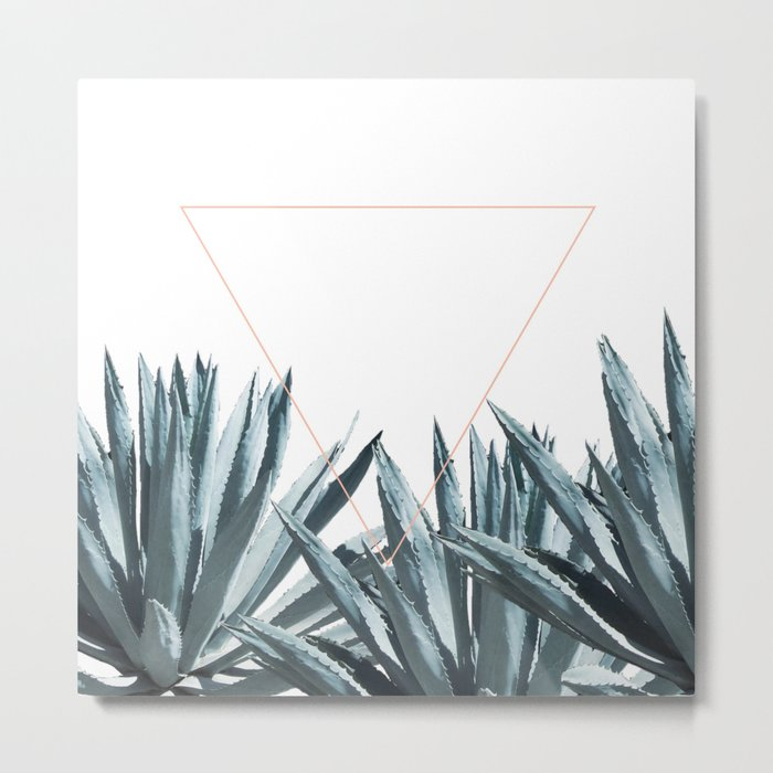 Agave Triangle Metal Print