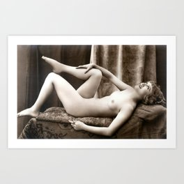 Vintage Nude Art Beauty No.106 of 250, from the Vintage Nude Arts Collection. Art Print