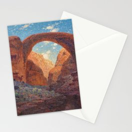 Rainbow Bridge, Glen Canyon, Utah Landscape Painting by William R. Leigh Stationery Cards