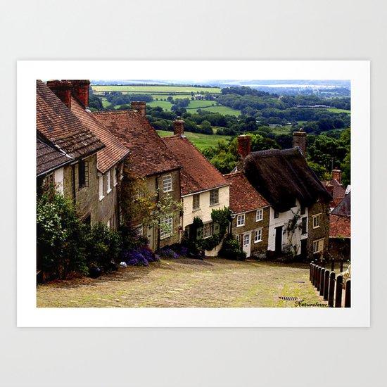 Gold Hill, Dorset Art Print