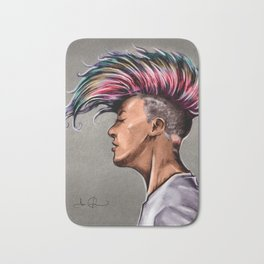 RGD Punk Rock Girl Portrait | Nikki the Bee Bath Mat
