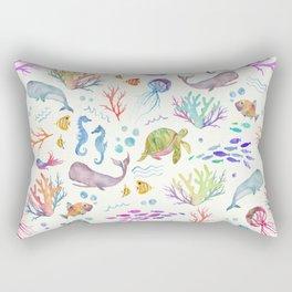 Flip & Flounder Rectangular Pillow