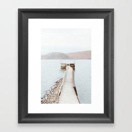 Dock in Autumn Framed Art Print