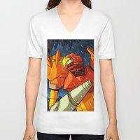 samus V-neck T-shirts featuring Samus (Metroid) by Peerro