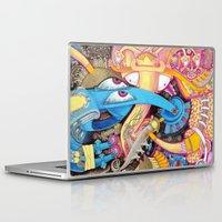 ice cream Laptop & iPad Skins featuring Ice Cream by Yuliya