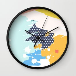 Funny Modern Art Poster Wall Clock