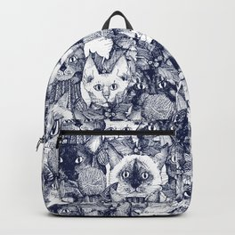 CHRISTMAS CATS blue Backpack