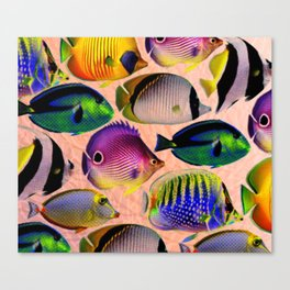 Undersea living colors Canvas Print