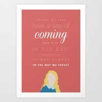 luna lovegood Art Prints featuring luna lovegood quote by Marta Lemon