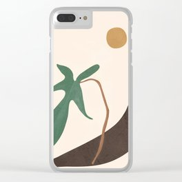 Minimal New Leaf Clear iPhone Case