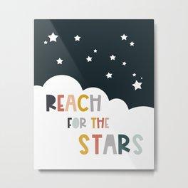 Reach stars - Kids Art Metal Print