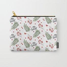 Winter Mistletoe Carry-All Pouch