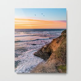Magical Sunset Cliff Metal Print