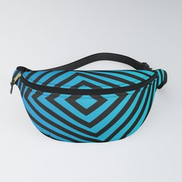 Squares twirling from the Center. Optical Illusion of Perspective bu Squares twirling Fanny Pack