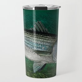 Striped Bass Fishing Art Prints Travel Mug