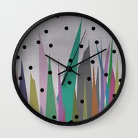 grass Wall Clocks featuring Grass by Olivia James