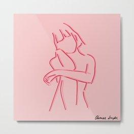 Pink Gal Metal Print