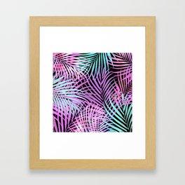 Retro 80's style Palms Framed Art Print