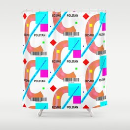"Cocktail ""2nd C"" - Cosmopolitan Shower Curtain"