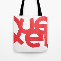 queens of the stone age Tote Bags featuring Queens by Pamalope