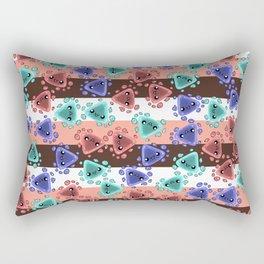 Ameba Blobs - Colorful Putty Rectangular Pillow