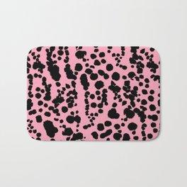 Pink and Black Dalmatian Bath Mat