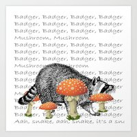 badger Art Prints featuring badger by myepicass