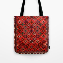 -A30- Red Epic Traditional Moroccan Carpet Design. Tote Bag