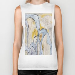 497 - Abstract Giraffe Design Biker Tank