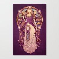nouveau Canvas Prints featuring Hylian Nouveau by Megan Lara