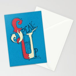 Speak Up   Proverbs 31:9 Stationery Cards