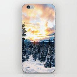 winter vibes #society6 #decor #buyart iPhone Skin