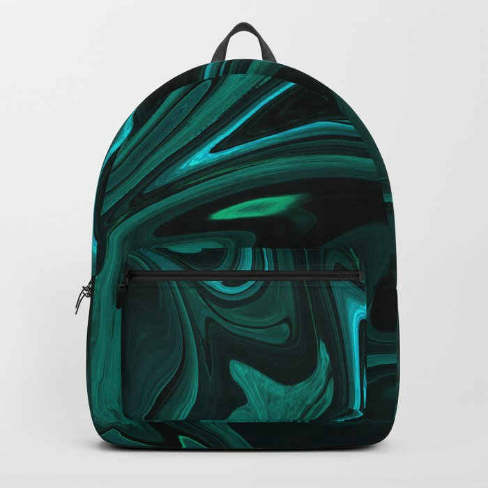 Teal Liquefy Pattern Backpack