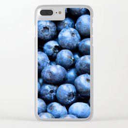 Blueberries pattern Clear iPhone Case
