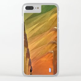 Burst of colors Clear iPhone Case