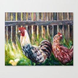 Farm Yard Chicken - Acrylic Art Canvas Print