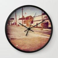 memphis Wall Clocks featuring Memphis Street by wendygray