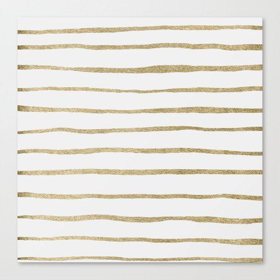 Gold Stripes Canvas Print