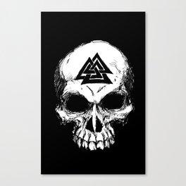 ValknutR Skull Canvas Print