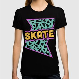 SKATE | Rad 90s Roller Skating Pattern T-shirt