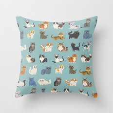 Cats! Throw Pillow