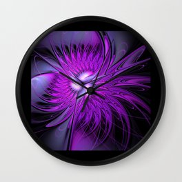 flames on black -6- Wall Clock