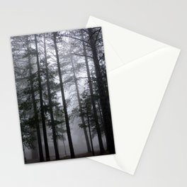 Mist Fog Ponderosa Pine Trees Stationery Cards