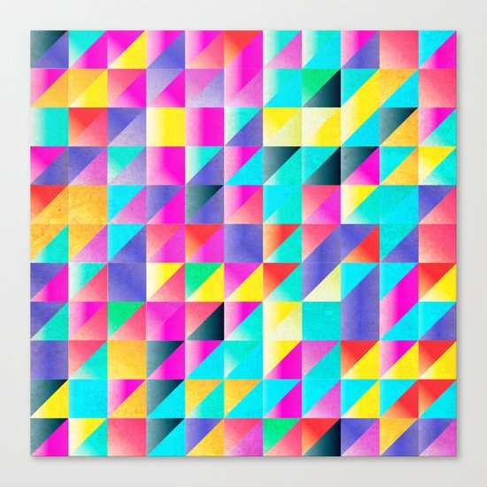 Geometric Neon  Canvas Print