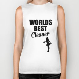 Worlds best cleaner funny quote Biker Tank