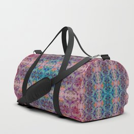 Moon Stars Ornate Pattern Duffle Bag