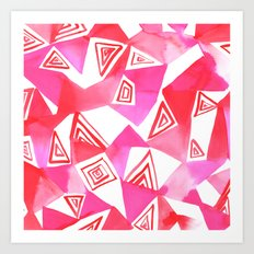 Geo Triangle Pink Art Print