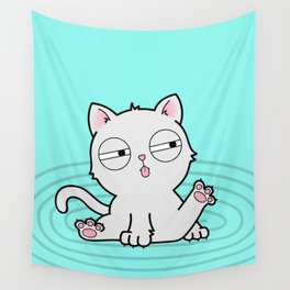 Kitty Bath Time Wall Tapestry