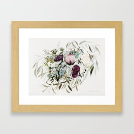 Rustic and Free Bouquet Framed Art Print